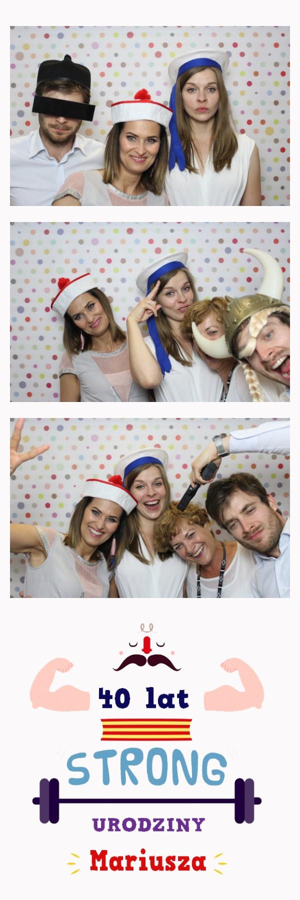 zdjęcie z fotobudki na imprezie Mariusza