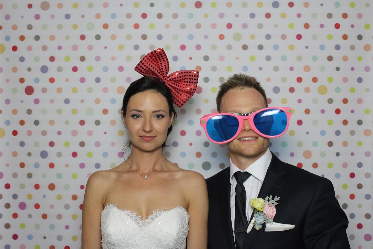 zdjęcie z fotobudki na wesele